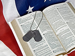 Flag and Bible, Military troops