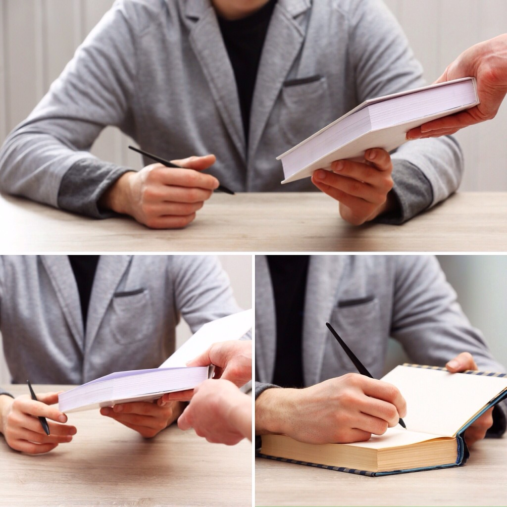 How to set up a book signing