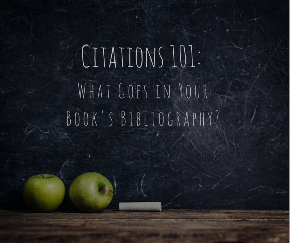 how to make a bibliography for a book